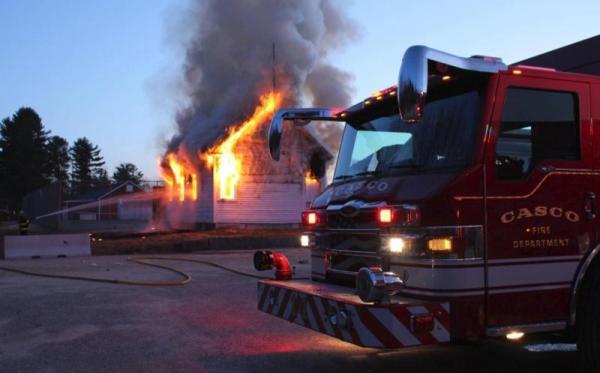 April, 2018 fire of Friends schoolhouse