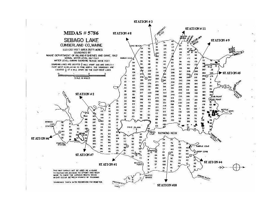 Sebago Lake Town Of Raymond Maine - Maine lakes map